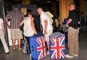 Britsch Tourists leaving Kenya